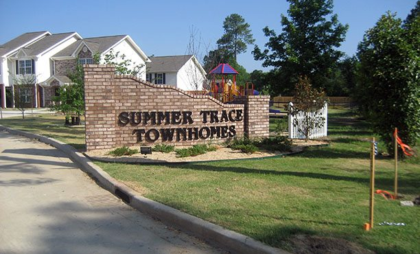 Summer Trace Townhomes entrance