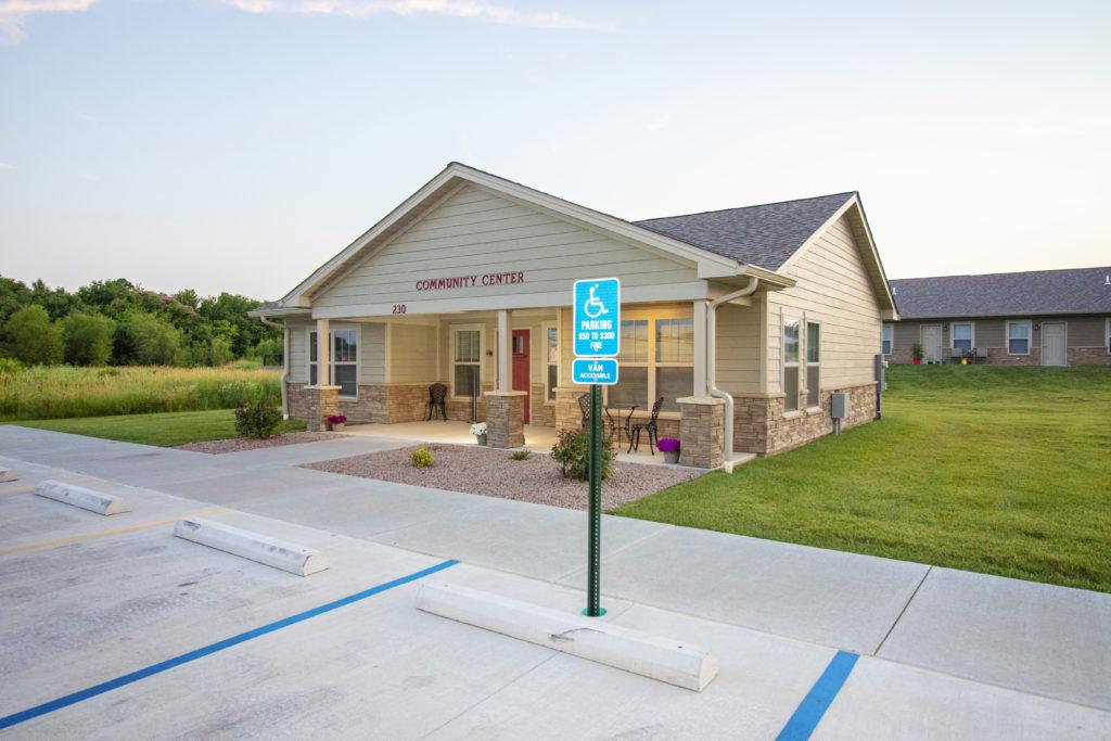 Pine Ridge, Community Center, front elevation