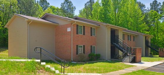 front elevation, brick, multi-family