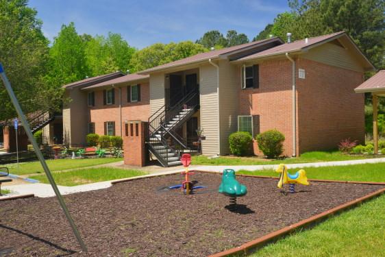 Playground, brick, multi-family